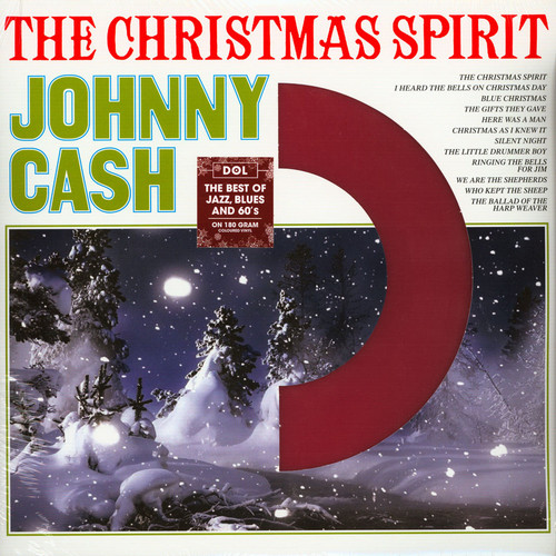 Johnny Cash The Christmas Spirit LP Red Vinyl Record