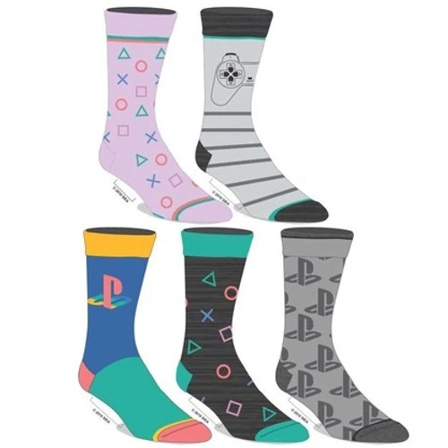 Sony PlayStation Five Pair Crew Sock Pack by Bioworld