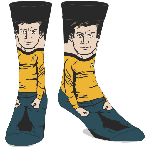 Star Trek Captain Kirk 360 Image Crew Socks by Bioworld