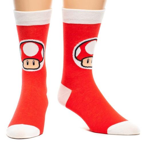 Nintendo Super Mario Bros. Red Mushroom Crew Socks