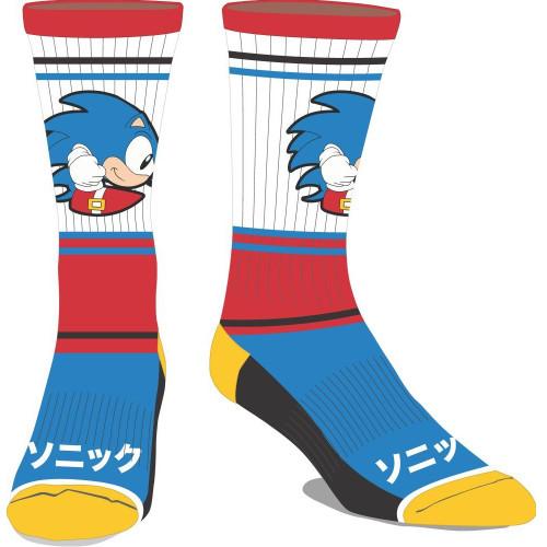 Sega Sonic The Hedgehog Colourblock Crew Socks