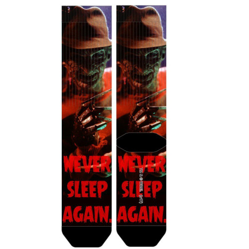 Nightmare On Elm Street Never Sleep Again Sublimated Socks by Bioworld