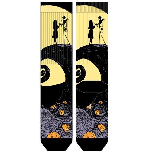 Nightmare Before Christmas Jack and Sally Scene Sublimated Socks
