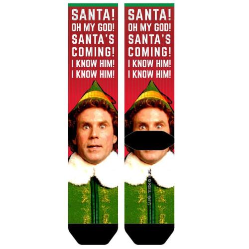 Elf OMG! Santa's Coming Sublimated Socks