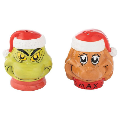 Dr. Seuss The Grinch and Max Salt and Pepper Shakers