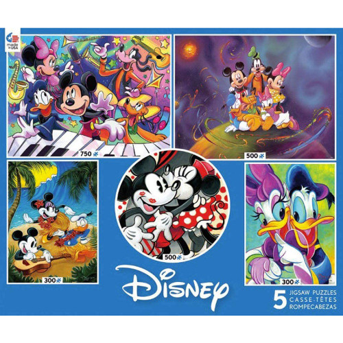 Disney Fab Five Mickey Mouse 5 Puzzle Multi-Pack by Ceaco