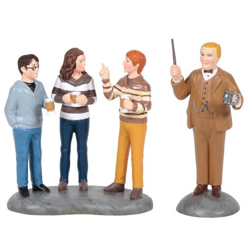 Department 56 Harry Potter Village Professor Slughorn and the Trio