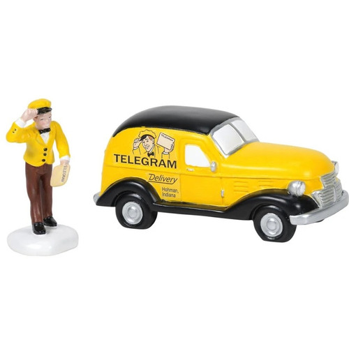 Old Man's Telegram Delivered Department 56 A Christmas Story Village
