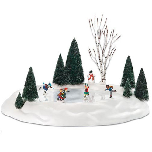 Department 56 Village Animated Skating Pond