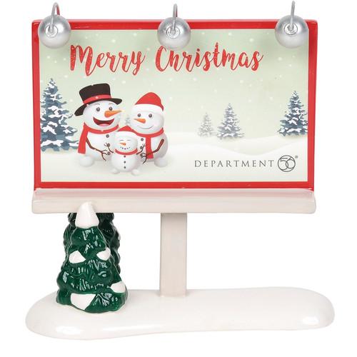 Department 56 Village Merry Christmas Billboard