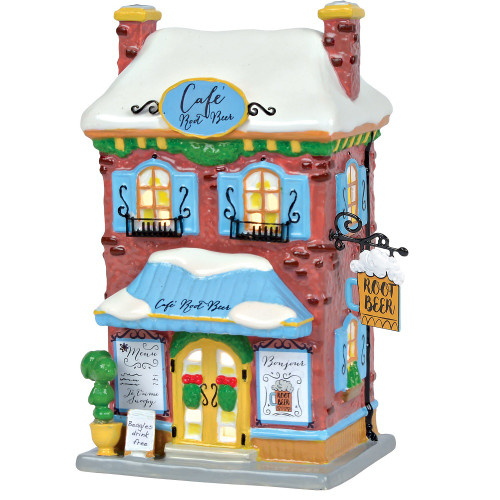 Department 56 Peanuts Village Snoopy's Root Beer Cafe