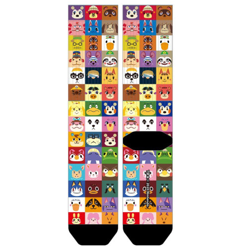 Nintendo Animal Crossing All Over Print Sublimated Socks by Bioworld