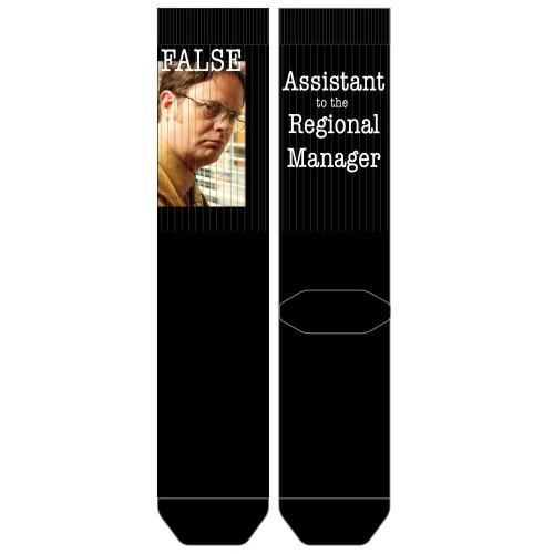 The Office Assistant to the Regional Manager Sublimated Socks