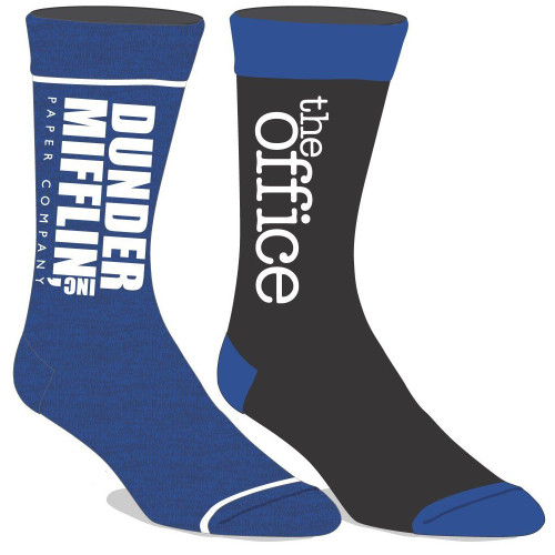 The Office Dunder Mifflin 2 Pair Crew Socks