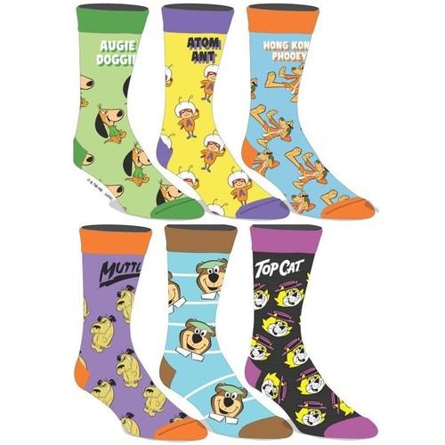 Hanna Barbera 6-Pair Pack Men's Crew Socks