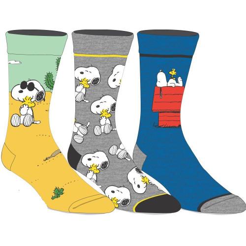 Peanuts Snoopy 3 Pack of Crew Socks