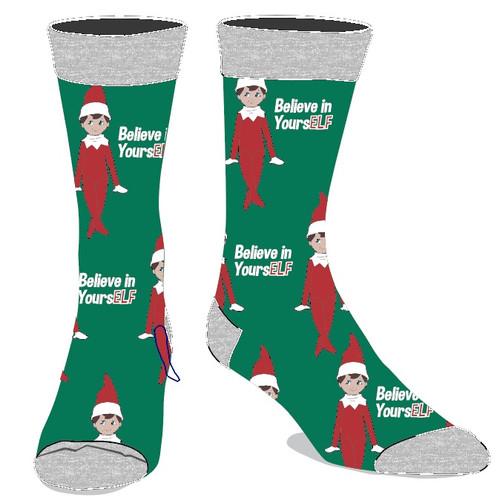 Elf On The Shelf Believe in Yourself Crew Socka