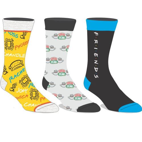 Friends 3 Pack of Crew Socks