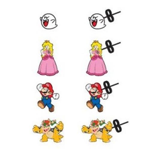 Nintendo Super Mario Bros. 4-Pack of Enamel Earrings
