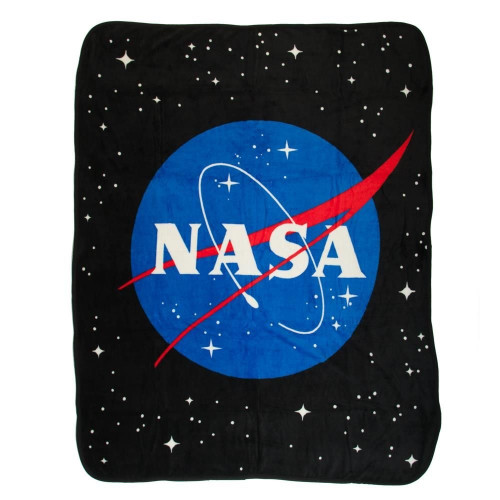 Buzz Aldrin NASA Meatball Icon Throw Blanket