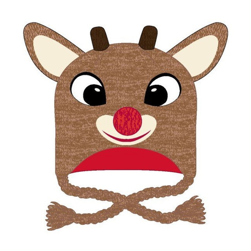 Rudolph The Red Nosed Reindeer Big Face Toque with Strings