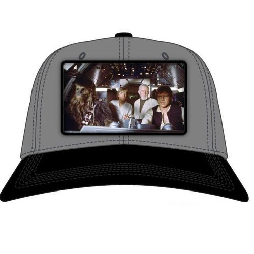 Star Wars Millennium Falcon Cockpit Scene Snapback Hat