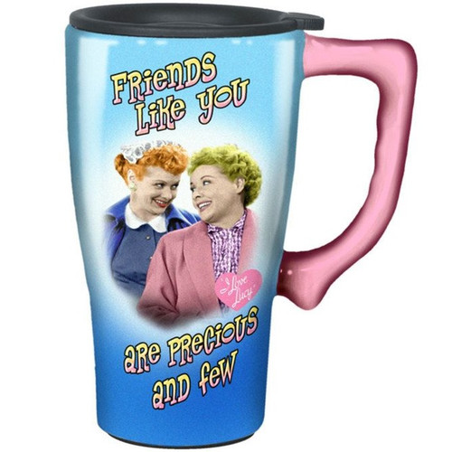 I Love Lucy Friends Like You Are Precious and Few Travel Mug
