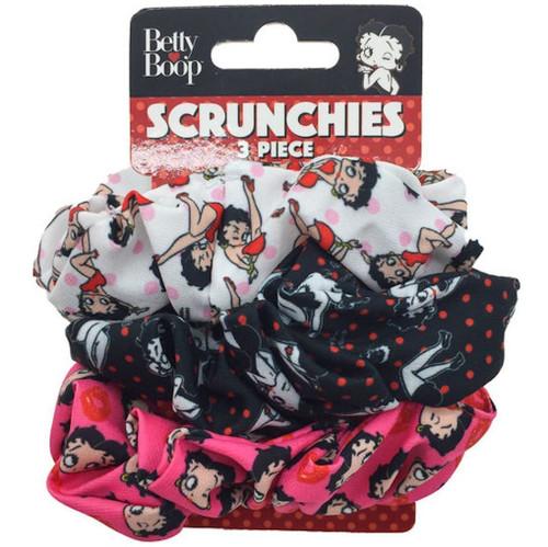 Betty Boop 3-Pack Scrunchie Set