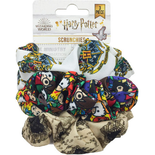 Harry Potter Chibi Characters 3-Pack Scrunchie Set