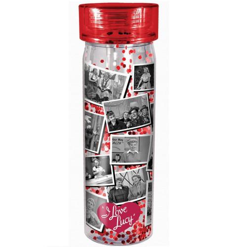 I Love Lucy Glitter Acrylic Bottle