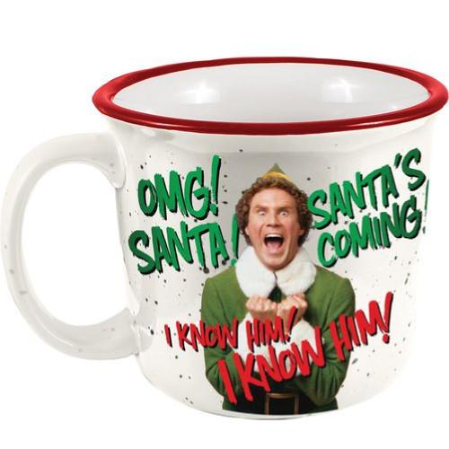 Elf Omg! Santa's Coming! Camp Mug