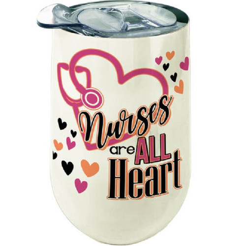 Nurses Are All Heart Stainless Steel Wine Tumbler
