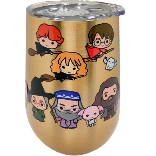 Harry Potter Chibi Characters Stainless Steel Wine Tumbler
