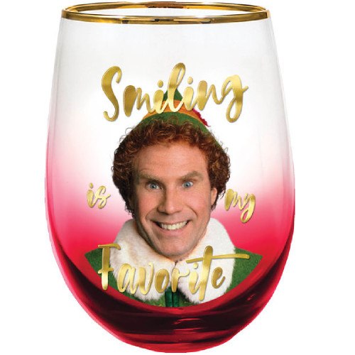 Elf Smiling Is My Favourite Stemless Wine Glass