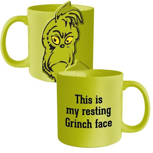 Dr. Seuss Grinchmas Resting Grinch Face Ceramic Mug