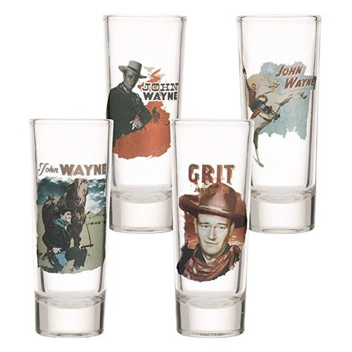 John Wayne Highball Glass Set of 4