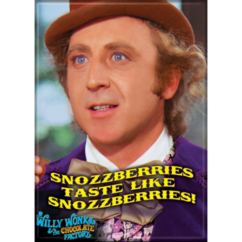 Willy Wonka Snozzberries Flat Magnet