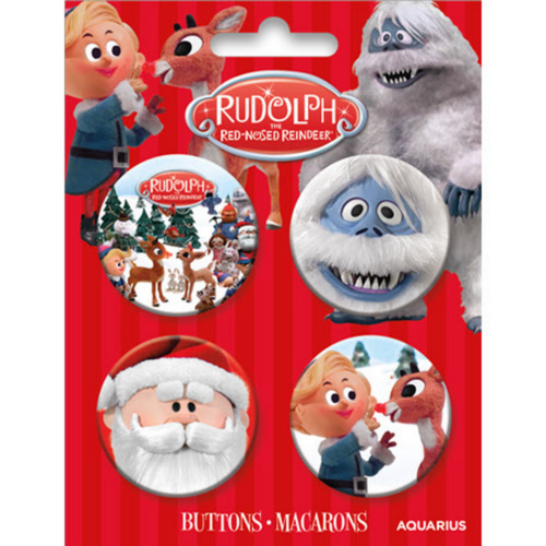 Rudolph Four Button Pack