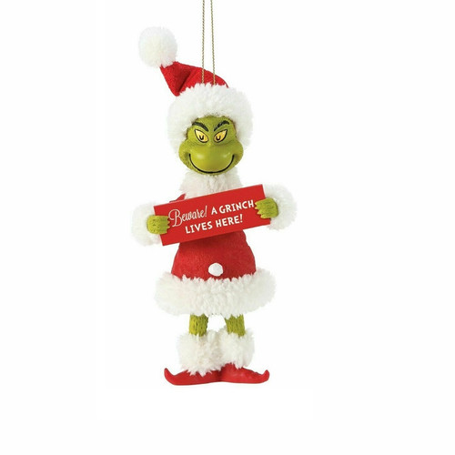 Beware! Grinch Hanging Ornament