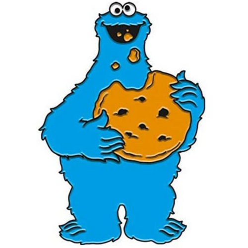 Cookie Monster Enamel Pin