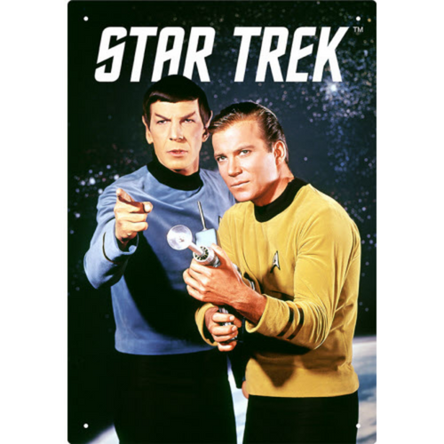 Star Trek Kirk and Spock Tin Sign