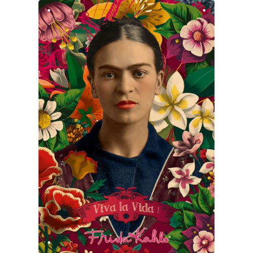 Frida Kahlo Tin Sign