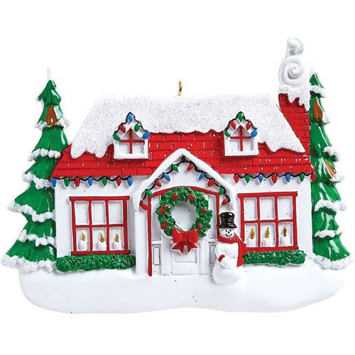 Festive Home for the Holidays Personalized Ornament
