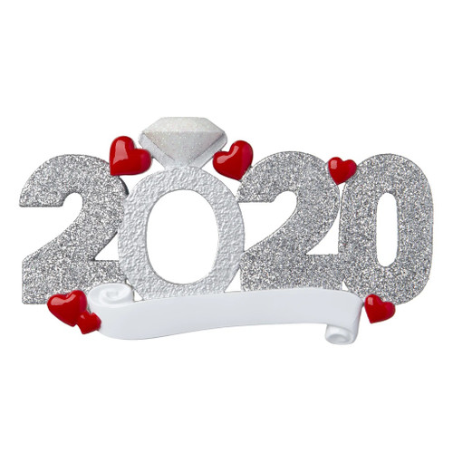 2020 Engagement Personalized Ornament
