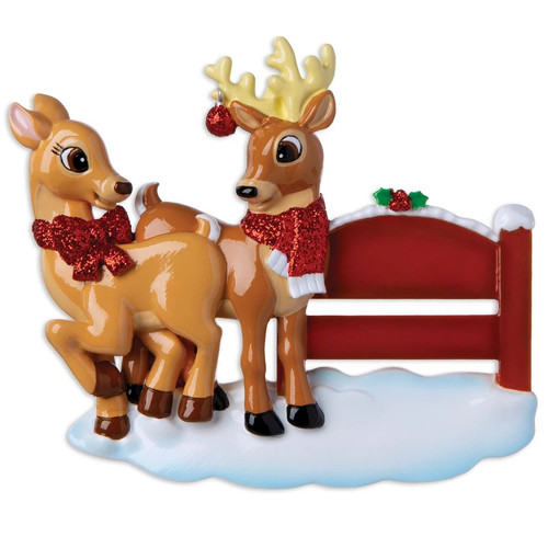 Reindeer at Park Personalized Ornament