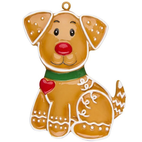 Gingerbread Dog Personalized Ornament