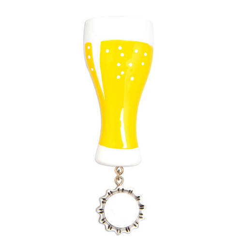 Craft Beer Glass Personalized Ornament