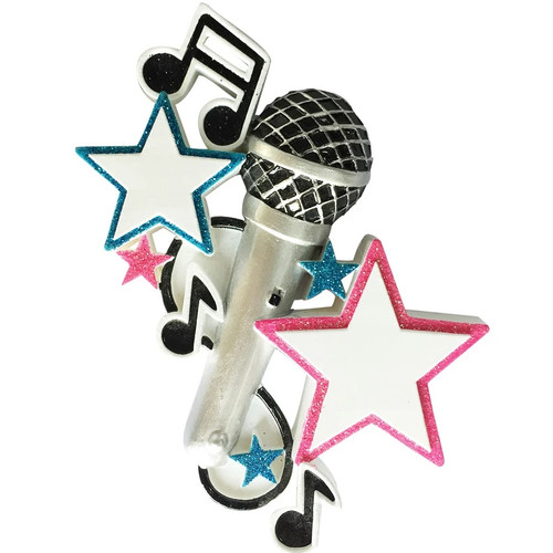Music Microphone Personalized Ornament
