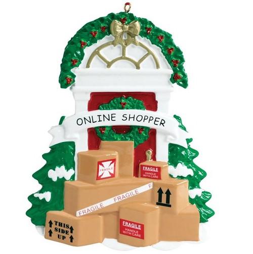 Online Shopper Christmas Ornament