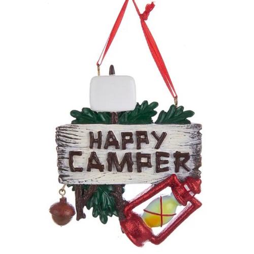 Happy Camper Personalized Ornament